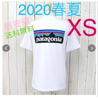 パタゴニア(patagonia)の新品 XS パタゴニア・P-6ロゴ・レスポンシビリティー 白 ホワイト Tシャツ(Tシャツ/カットソー(半袖/袖なし))