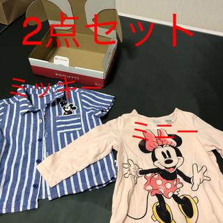 ディズニー(Disney)のミッキー半袖シャツ ミニー長袖セット(シャツ)