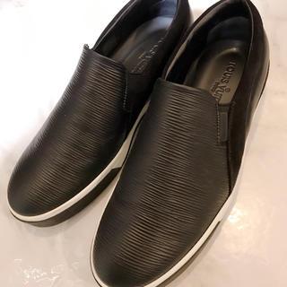 ルイヴィトン(LOUIS VUITTON)のルイヴィトン LOUIS VUITTON 靴 シューズ スリッポン 黒 エピ(スリッポン/モカシン)