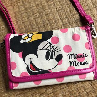 ディズニー(Disney)のDisney ミニー お財布ポシェット スマホポシェット(キャラクターグッズ)