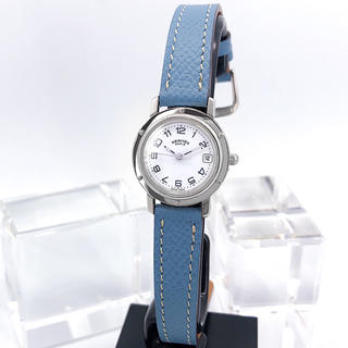 Hermes - 【仕上済/ニ色付】エルメス クリッパー シルバー レディース 腕時計