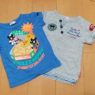ダブルビー(DOUBLE.B)の使用感アリ!DOUBLE.B 90サイズ Tシャツセット(Tシャツ/カットソー)