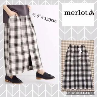 merlot - ★大幅最終お値下★新品タグ付き メルロー スカート チェック柄