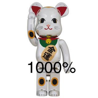 MEDICOM TOY - BE@RBRICK 招き猫 銀メッキ 弐 1000% MCT TOKYO ②