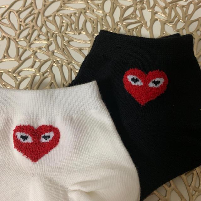 COMME des GARCONS(コムデギャルソン)の靴下 二足セット くるぶし丈 レディースのレッグウェア(ソックス)の商品写真