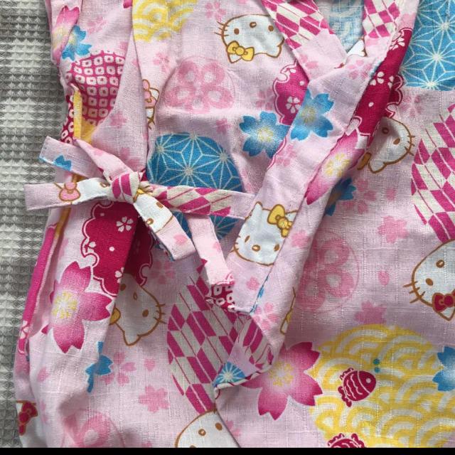 サンリオ(サンリオ)の新品 タグ付き ロンパース 甚平 浴衣 ベビー 70 キッズ/ベビー/マタニティのベビー服(~85cm)(甚平/浴衣)の商品写真