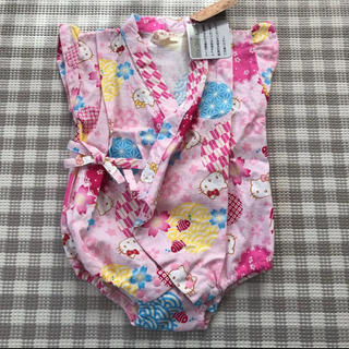 サンリオ(サンリオ)の新品 タグ付き ロンパース 甚平 浴衣 ベビー 70(甚平/浴衣)