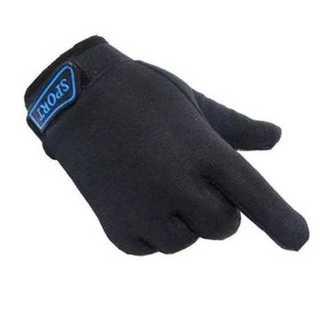 手袋 グローブ ブラック キッズ 子供用 滑り止め 防寒 通気性 コットン 調整(手袋)