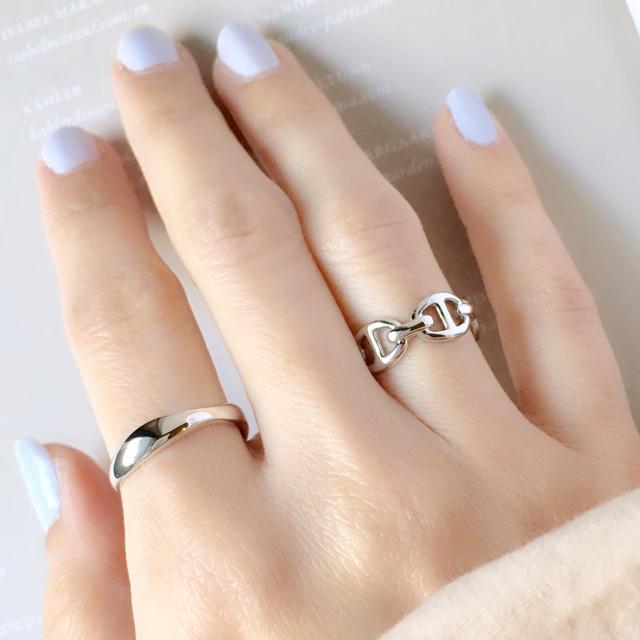 Ameri VINTAGE(アメリヴィンテージ)の再販【シルバー】シンプルシック チェーンリング《9号》 レディースのアクセサリー(リング(指輪))の商品写真