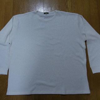 イオン(AEON)の4L ワッフル織長袖Tシャツ 生成(Tシャツ/カットソー(七分/長袖))