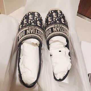 Christian Dior - 新品未使用⭐︎Dior新作ロゴエスパドリーユ 靴 フラットシューズ ディオール