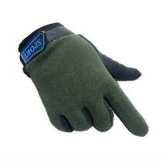 手袋 グローブ グリーン キッズ 子供用 滑り止め 防寒 通気性 コットン 調整(手袋)