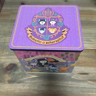 ディズニー(Disney)のTDS ハロウィン お菓子缶(缶のみ)  ダッフィー シェリーメイ ジェラトーニ(キャラクターグッズ)