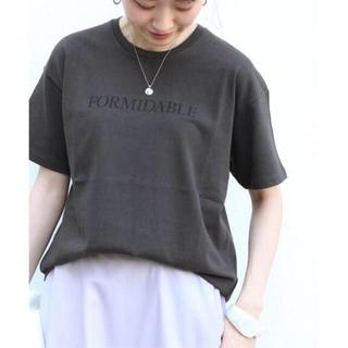 IENA - FORMIDABLEロゴプリントTシャツ ブラック