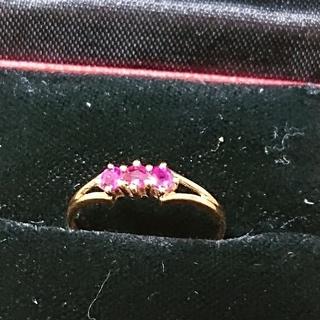 K18ルビー指輪