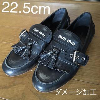 miumiu - miumiuキルトタッセルローファー