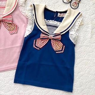 シャーリーテンプル(Shirley Temple)のシャーリーテンプル☆セーラーリボンカットソー☆100(Tシャツ/カットソー)