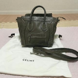 celine - 美品 セリーヌ CELINE バッグ ラゲージ ナノ ショッパー ブラック