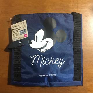 ディズニー(Disney)のDisney買い物カゴ用ショッピングバッグ(ミッキーマウス)ネイビー(エコバッグ)