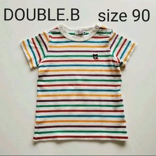 ダブルビー(DOUBLE.B)の★美!!★ダブルビー★ワンポイントTシャツ 90★(Tシャツ/カットソー)