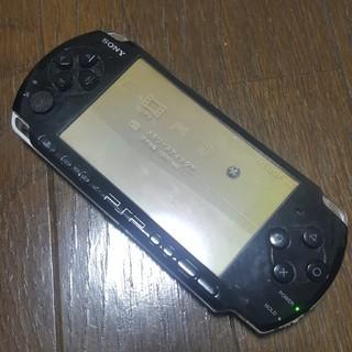 プレイステーションポータブル(PlayStation Portable)のPSP3000 ブラック 本体のみ(携帯用ゲーム機本体)