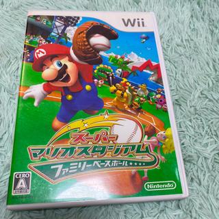 ウィー(Wii)のスーパーマリオスタジアムファミリーベースボール Wii テレビゲーム (家庭用ゲームソフト)