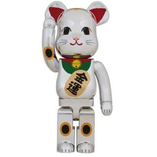 BE@RBRICK 招き猫 銀メッキ 弐 1000% メディコム・トイ(その他)