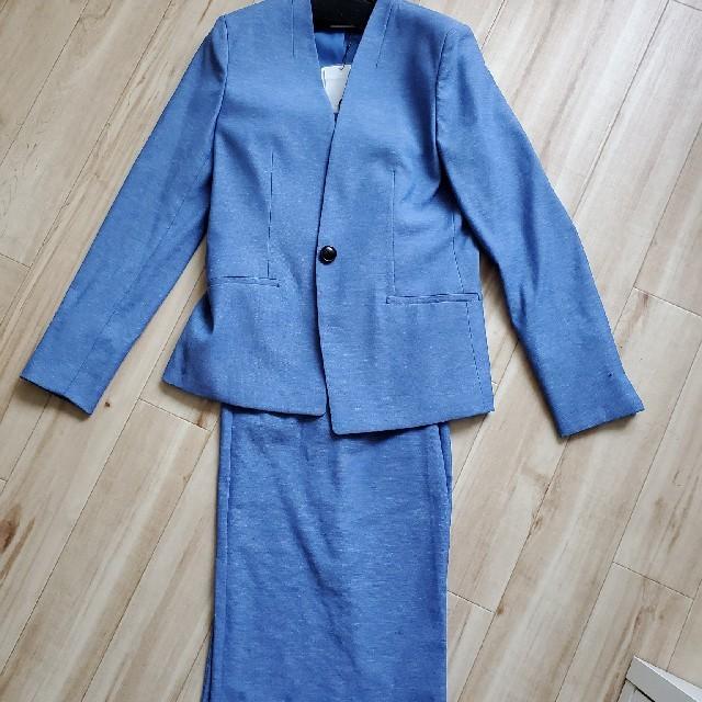 PLST(プラステ)のプラステ リネンブレンドセットアップ レディースのジャケット/アウター(ノーカラージャケット)の商品写真