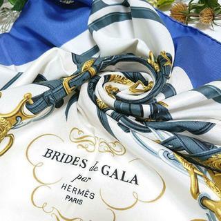 エルメス(Hermes)の★エルメス★ カレ90 式典用馬勒 シルク スカーフ(バンダナ/スカーフ)