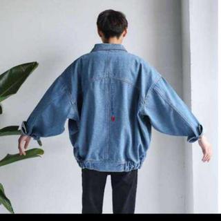 【売れ筋商品】ビックシルエット デニムジャケット ハレ系 韓国ファッション L(Gジャン/デニムジャケット)