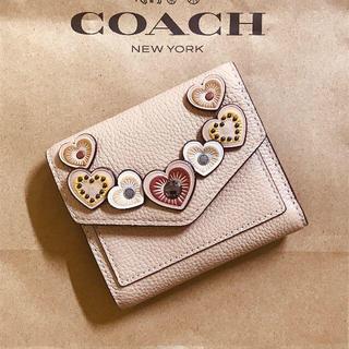 コーチ(COACH)の新品☆美品☆コーチ coach  折り財布 アップリケ スモールウォレット(財布)
