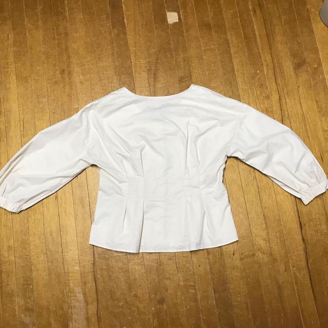 GU(ジーユー)のフロントボタンボリュームスリーブブラウス(7分袖)Q レディースのトップス(シャツ/ブラウス(長袖/七分))の商品写真