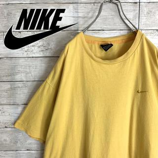 NIKE - 古着 90s ナイキ 半袖 Tシャツ 刺繍ロゴ ビッグシルエット レアカラー