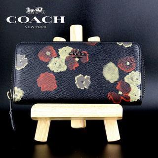 コーチ(COACH)のCOACH コーチ ラウンドファスナー 長財布 フローラル プリント 52426(財布)