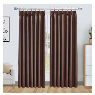 2枚組 遮光カーテン 1級遮光 ドレープカーテン 防寒 断熱カーテン(カーテン)