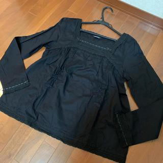 インゲボルグ(INGEBORG)のインゲボルグ   レース 刺繍 豪華な 黒ブラウス(シャツ/ブラウス(長袖/七分))