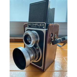 リコー(RICOH)のリコーフレックスⅥ 二眼レフカメラ リケンフィルター/ストラップ付(フィルムカメラ)