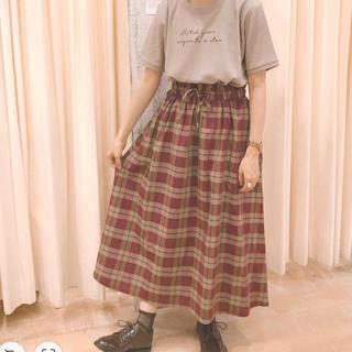 エヘカソポ(ehka sopo)の【新品未使用】ehka sopo チェックギャザースカート(ロングスカート)