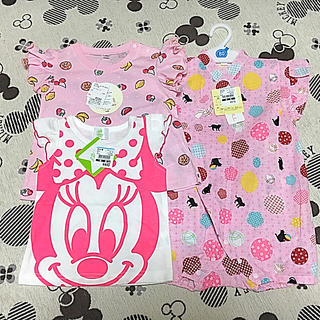 Disney - 【新品】ディズニーTシャツ&フルーツTシャツ&甚平ロンパース 3点セット
