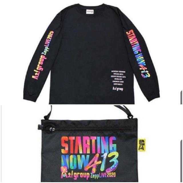 ジャニーズJr.(ジャニーズジュニア)のAぇ! group Zepp LIVE 2020ロンT&サコッシュ エンタメ/ホビーのタレントグッズ(アイドルグッズ)の商品写真