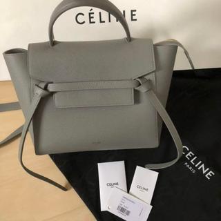 celine - セリーヌ ベルトバッグ マイクロ グレー