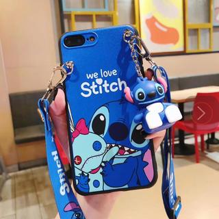 ディズニー(Disney)の【新品】iPhone7/iPhone8ディズニースティッチ ケースストラップ付き(iPhoneケース)