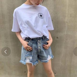 CONVERSE - converse カタカナ刺繍タグTシャツ ホワイト