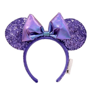 ディズニー(Disney)の大人気商品 再入荷 海外ディズニー  紫 スパンコール カチューシャ(カチューシャ)