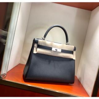 Hermes - ケリーHERMES大人気(黒)28cm内縫いブラックハンドバッグ両用