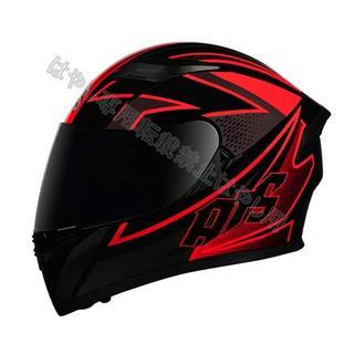 新品出荷  フルフェイス ヘルメット  ダブルシールド  赤AIS(ヘルメット/シールド)