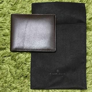 カランダッシュ(CARAN d'ACHE)の【新品・未使用】CARAN d'ACHE カランダッシュ 折財布 ブラウン(折り財布)