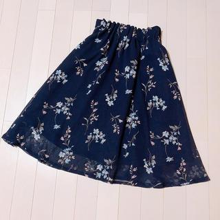 アストリアオディール(ASTORIA ODIER)の美品❤︎フラワープリントスカート(ひざ丈スカート)