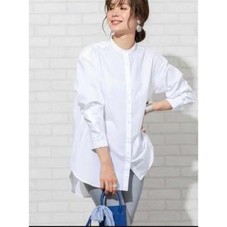 coen - coen   ブロードバンドカラーロングシャツ ホワイト 無地 シンプル
