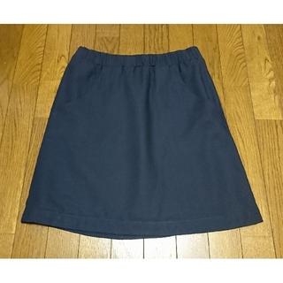 テチチ(Techichi)のお値下げ♪ テチチ スカート シンプル ネイビー 左右ポケット 台形(ひざ丈スカート)